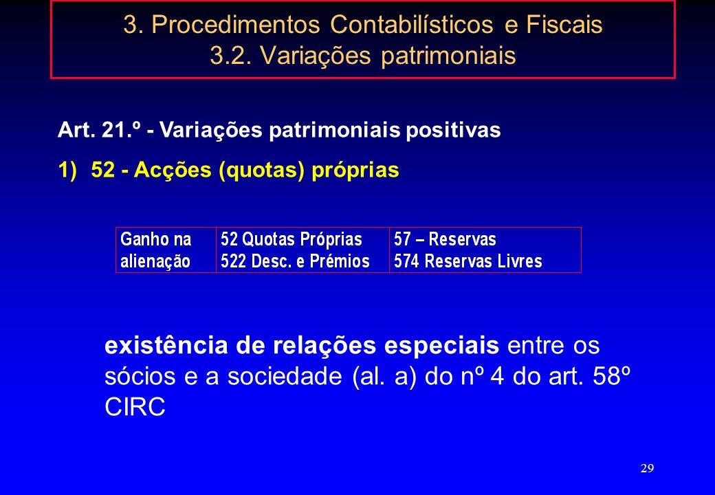 28 3. Procedimentos Contabilísticos e Fiscais 3.1. Documentação das operações Quadro 07 - Mod. 22 Despesas de carácter confidencial (artº 42º, nº 1, a