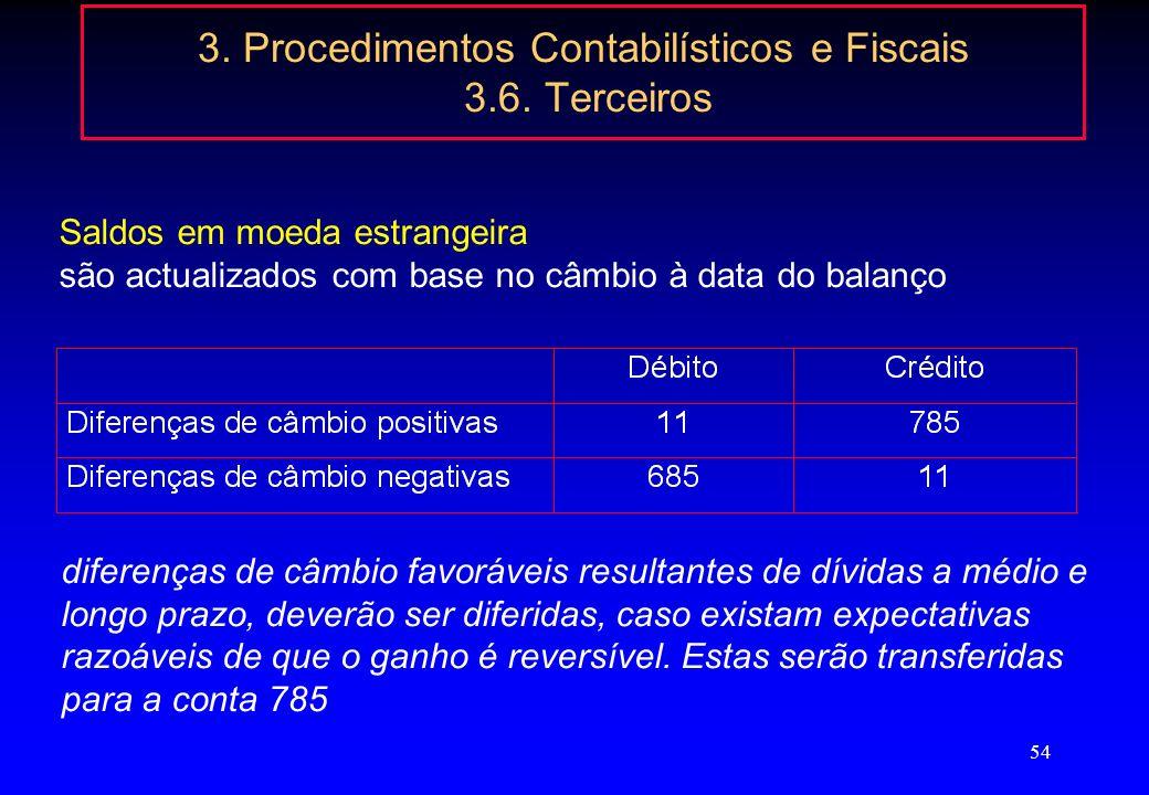 53 3. Procedimentos Contabilísticos e Fiscais 3.5. Existências Inutilização de existências Não existe qualquer obrigação legal de proceder a qualquer