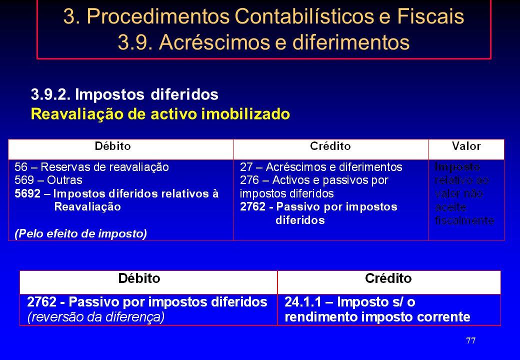76 3. Procedimentos Contabilísticos e Fiscais 3.9. Acréscimos e diferimentos 3.9.2. Impostos diferidos Directriz Contabilística n.º 28 regime transitó