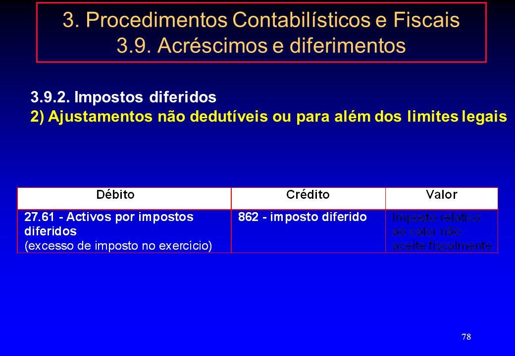 77 3. Procedimentos Contabilísticos e Fiscais 3.9. Acréscimos e diferimentos 3.9.2. Impostos diferidos Reavaliação de activo imobilizado