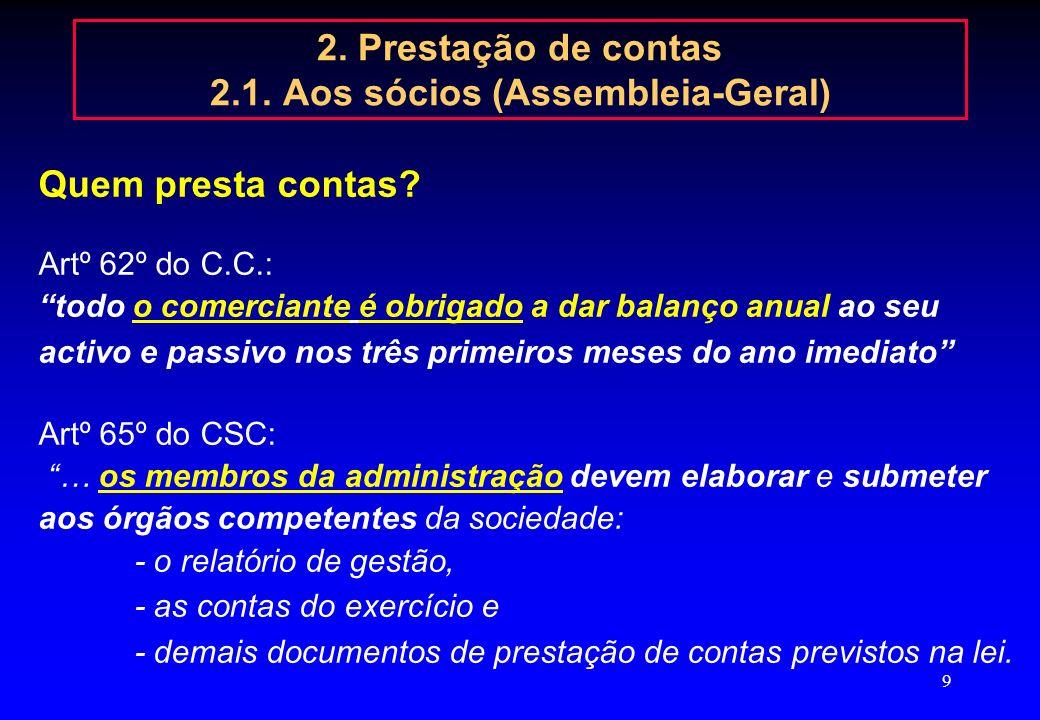 8 ENCERRAMENTO DE CONTAS 2006 2. Prestação de contas