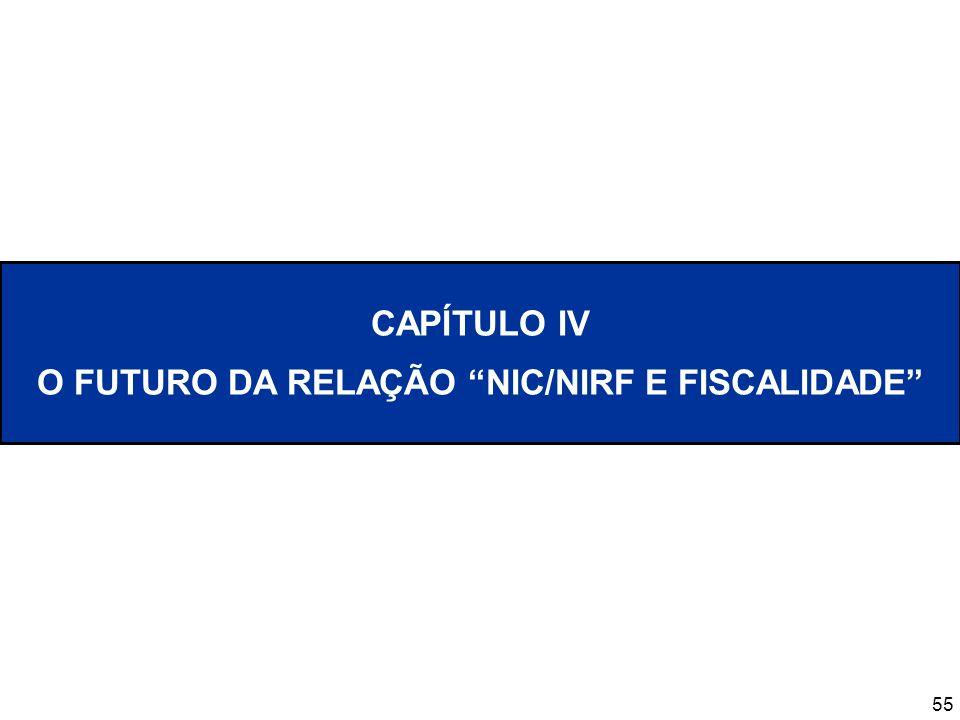 55 CAPÍTULO IV O FUTURO DA RELAÇÃO NIC/NIRF E FISCALIDADE