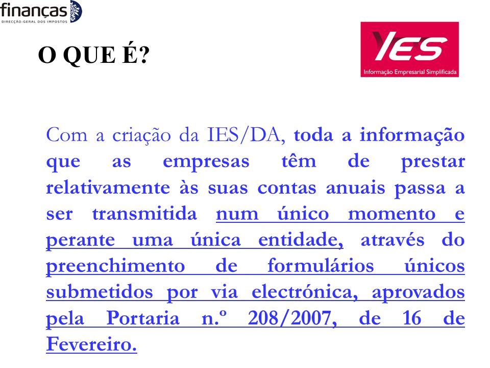 A QUEM SÃO ENTREGUES OS FORMULÁRIOS RELATIVOS À IES/DA.