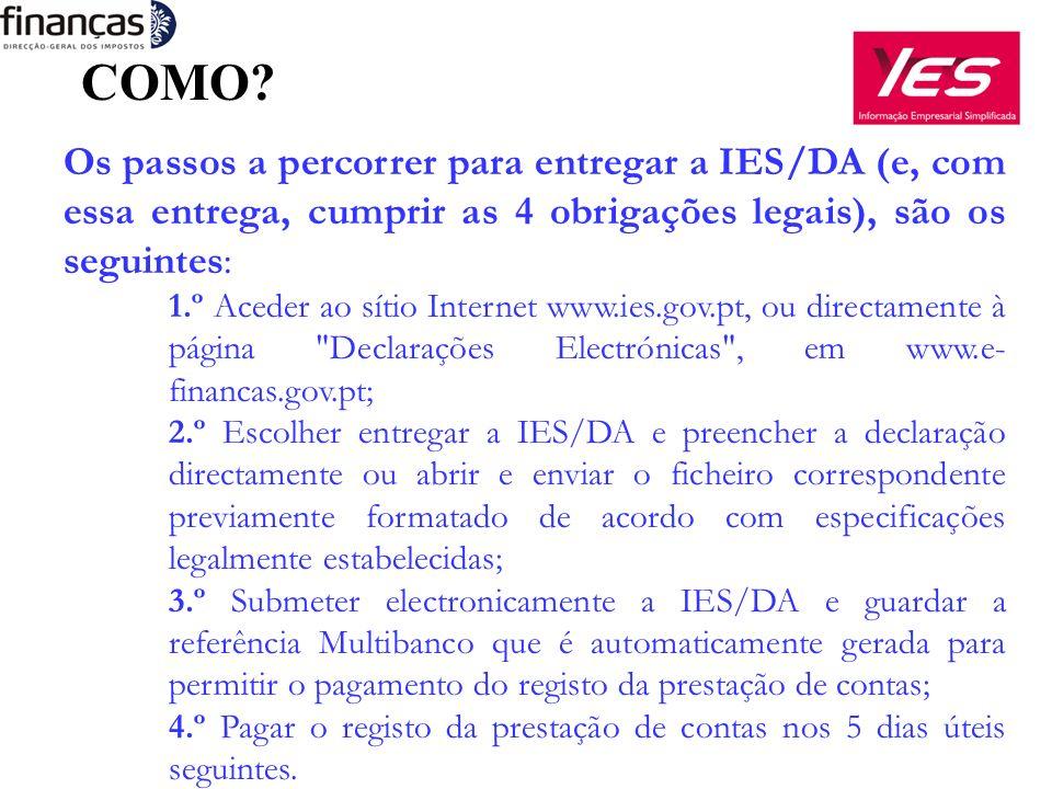 A IES/DA É PAGA.A única obrigação integrada na IES que é paga é o depósito da prestação de contas.