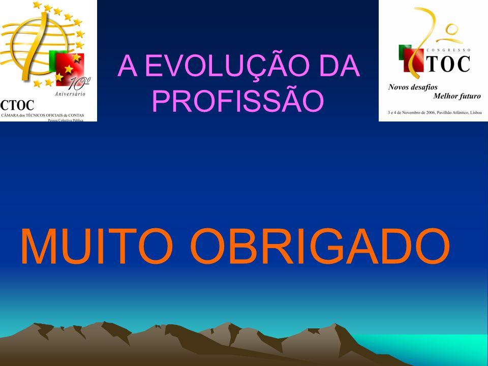A EVOLUÇÃO DA PROFISSÃO MUITO OBRIGADO