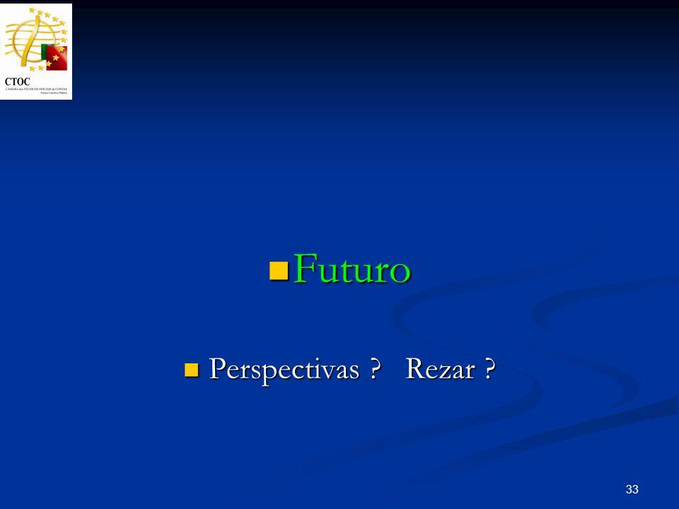 33 Futuro Futuro Perspectivas ? Rezar ? Perspectivas ? Rezar ?