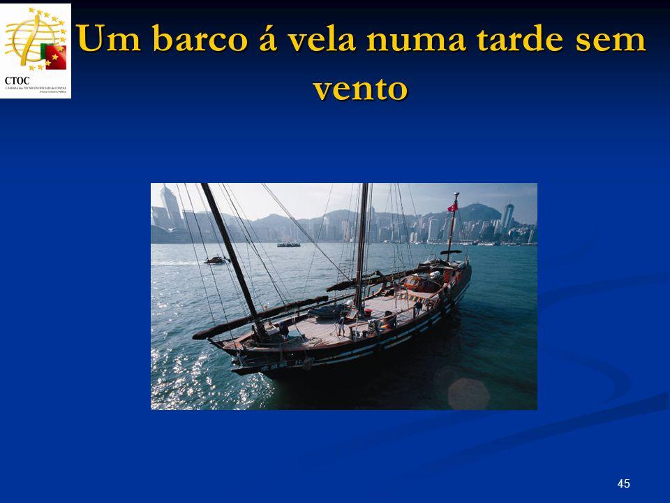 45 Um barco á vela numa tarde sem vento