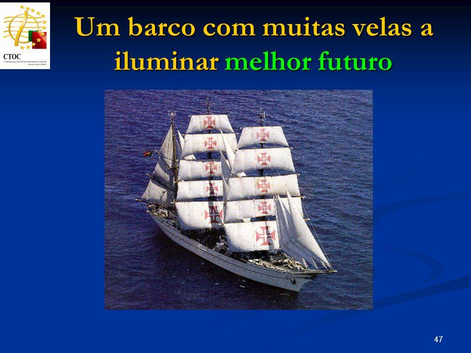 47 Um barco com muitas velas a iluminar melhor futuro
