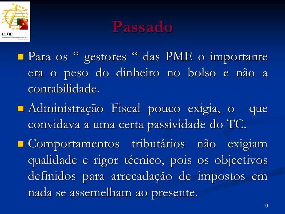 10 Passado Entretanto, de 1989 a 1995, decorridos cerca de sete anos, o poder político ignorou os TC, confinando-os a simples profissionais administrativos.