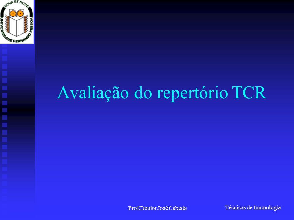 Técnicas de Imunologia Prof.Doutor José Cabeda Avaliação do repertório TCR