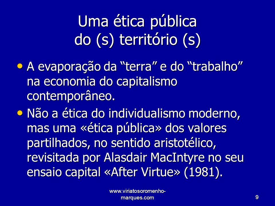 www.viriatosoromenho- marques.com30 Mais aposta nos recursos endógenos Diminuir a nossa dependência externa alimentar, sem deixar de apostar no comércio externo.