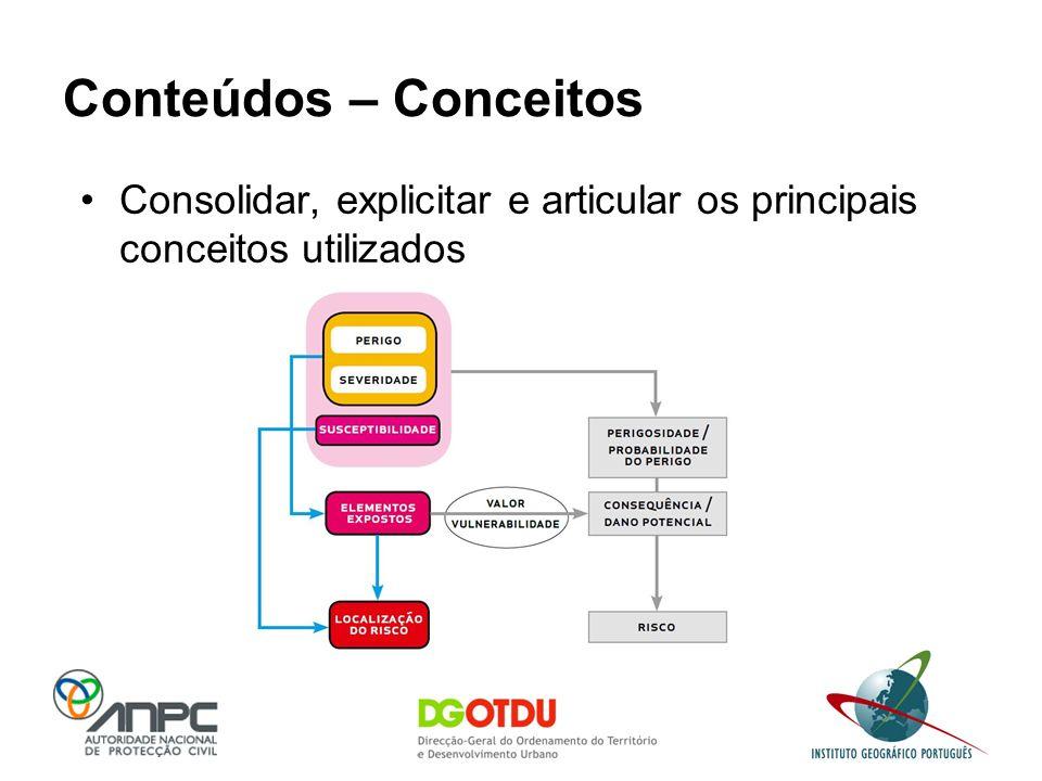 Conteúdos – Conceitos Consolidar, explicitar e articular os principais conceitos utilizados