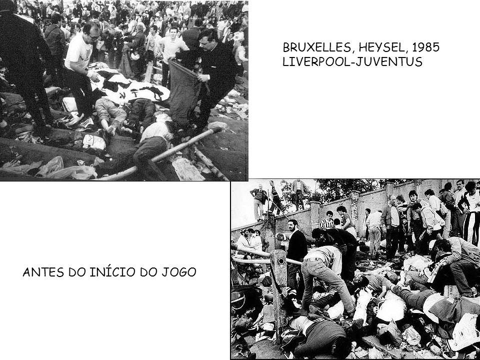 BRUXELLES, HEYSEL, 1985 LIVERPOOL-JUVENTUS ANTES DO INÍCIO DO JOGO