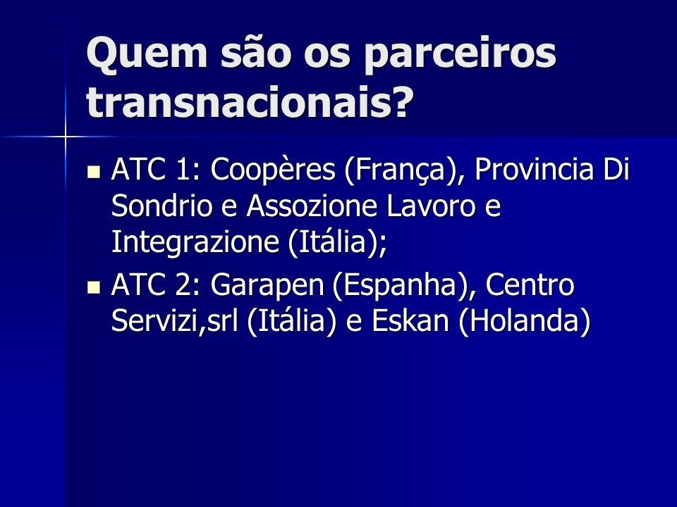 Quem são os parceiros transnacionais.