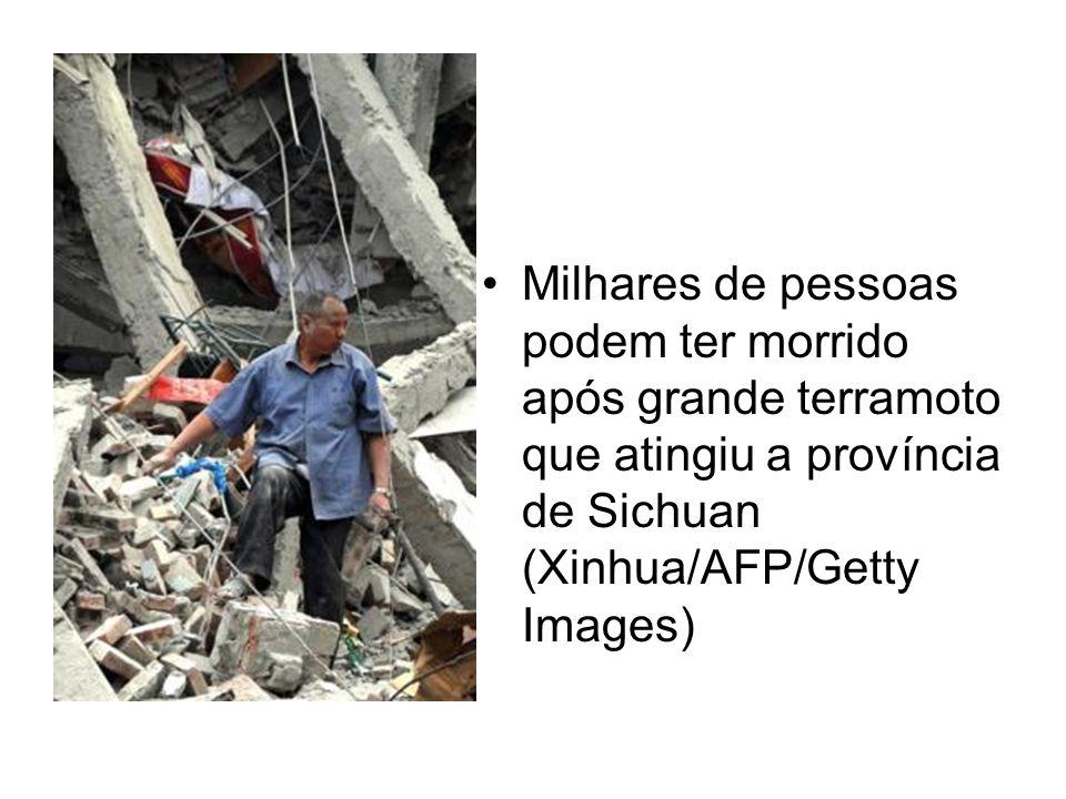 Milhares de pessoas podem ter morrido após grande terramoto que atingiu a província de Sichuan (Xinhua/AFP/Getty Images)