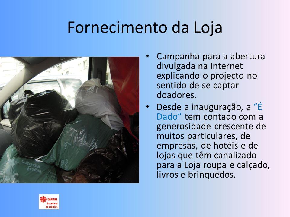 Fornecimento da Loja Campanha para a abertura divulgada na Internet explicando o projecto no sentido de se captar doadores.