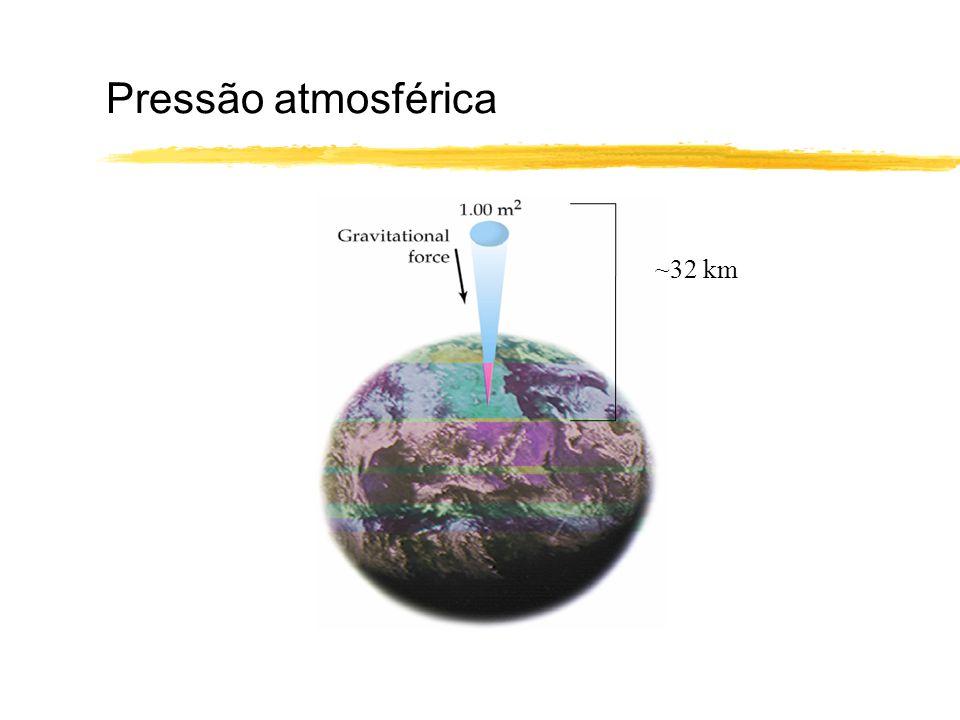 Pressão atmosférica ~32 km
