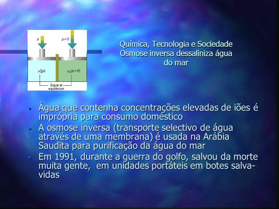 Água que contenha concentrações elevadas de iões é imprópria para consumo doméstico Água que contenha concentrações elevadas de iões é imprópria para