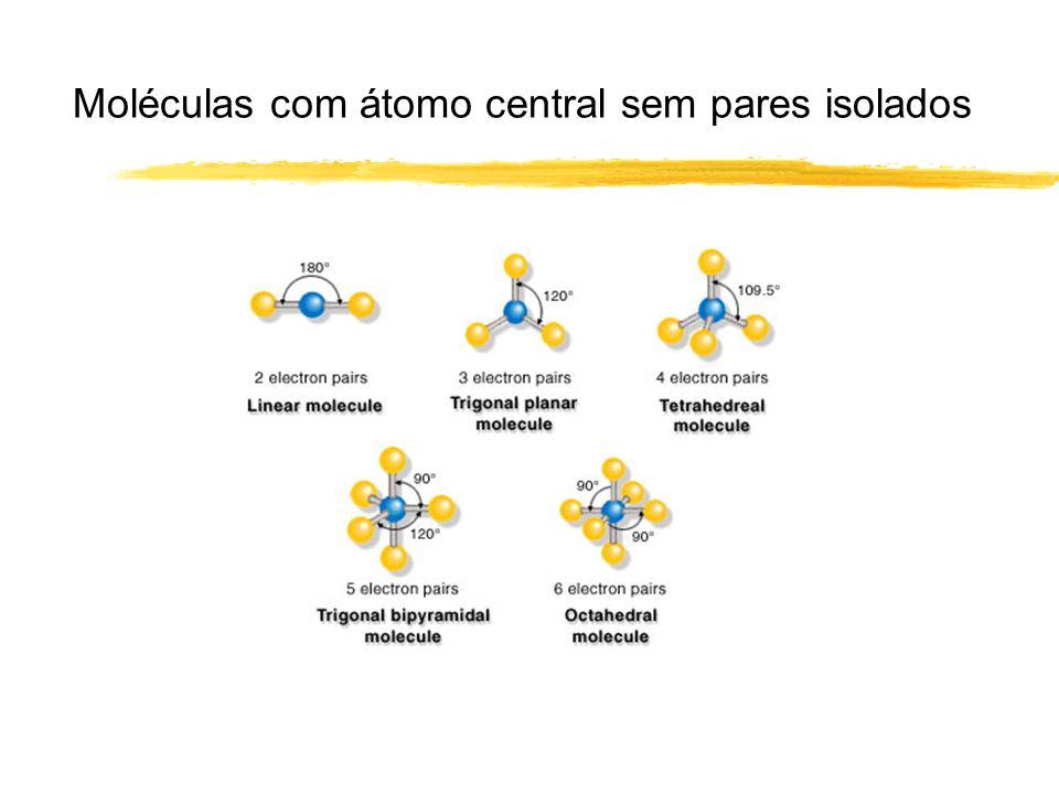 Moléculas com átomo central sem pares isolados