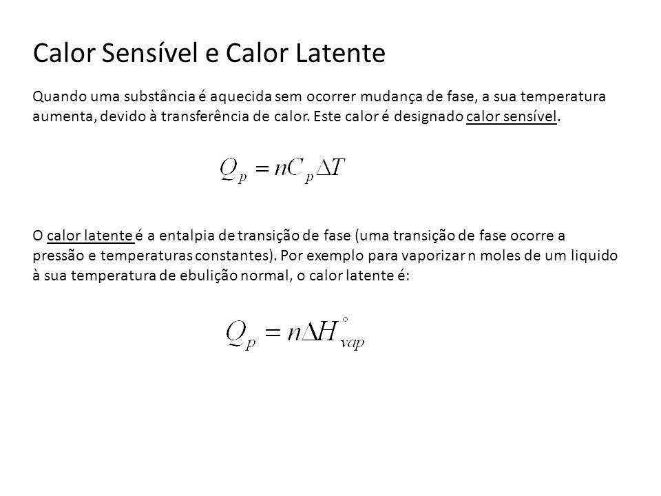 Calor Sensível e Calor Latente Quando uma substância é aquecida sem ocorrer mudança de fase, a sua temperatura aumenta, devido à transferência de calo