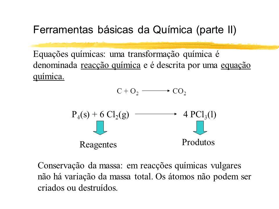 Acerto de equações Muitas vezes identificamos reagentes e produtos mas temos de acertar a equação química.
