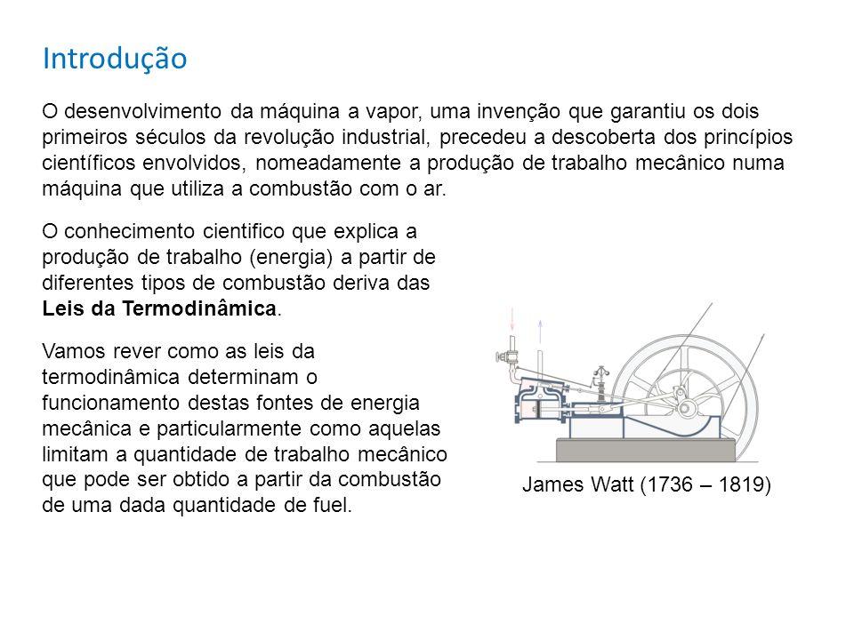 Introdução O desenvolvimento da máquina a vapor, uma invenção que garantiu os dois primeiros séculos da revolução industrial, precedeu a descoberta do