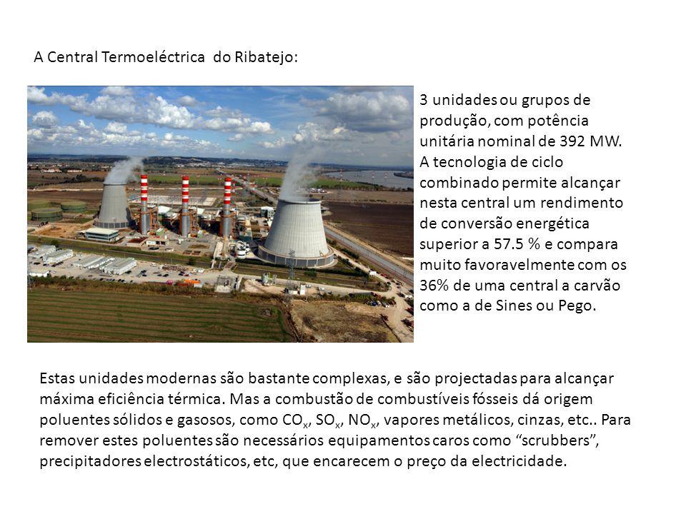 3 unidades ou grupos de produção, com potência unitária nominal de 392 MW. A tecnologia de ciclo combinado permite alcançar nesta central um rendiment