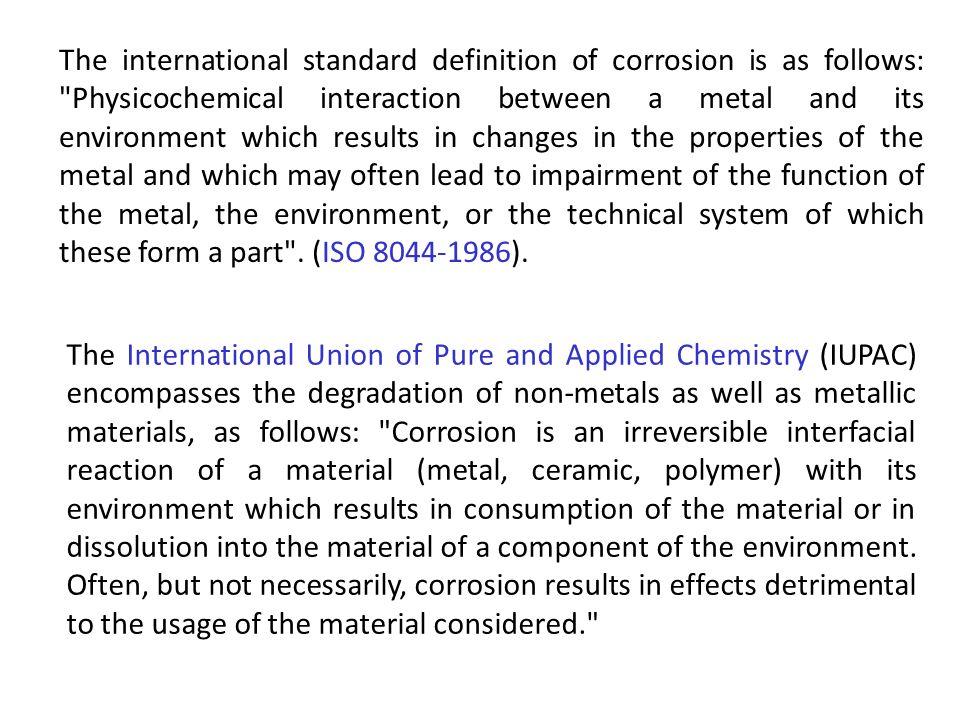 Velocidade de corrosão Numa solução aquosa a quantidade de metal corroído uniformemente a partir de um ânodo (ou depositado num cátodo) é determinado pela equação de Faraday: m – massa de metal, em g, corroído ou depositado.