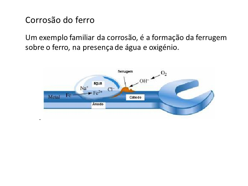 Na Corrosão uniforme ou por ataque generalizado a velocidade de corrosão é aproximadamente igual em toda a superfície do metal.