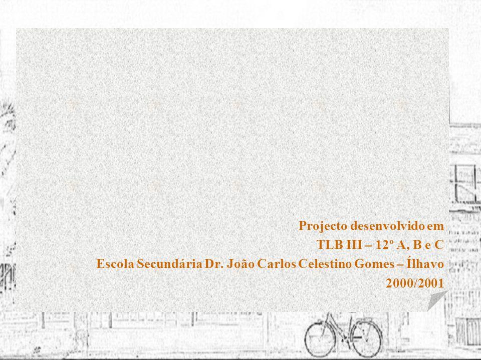 Projecto desenvolvido em TLB III – 12º A, B e C Escola Secundária Dr. João Carlos Celestino Gomes – Ílhavo 2000/2001
