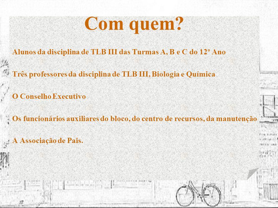 Projecto desenvolvido em TLB III – 12º A, B e C Escola Secundária Dr.