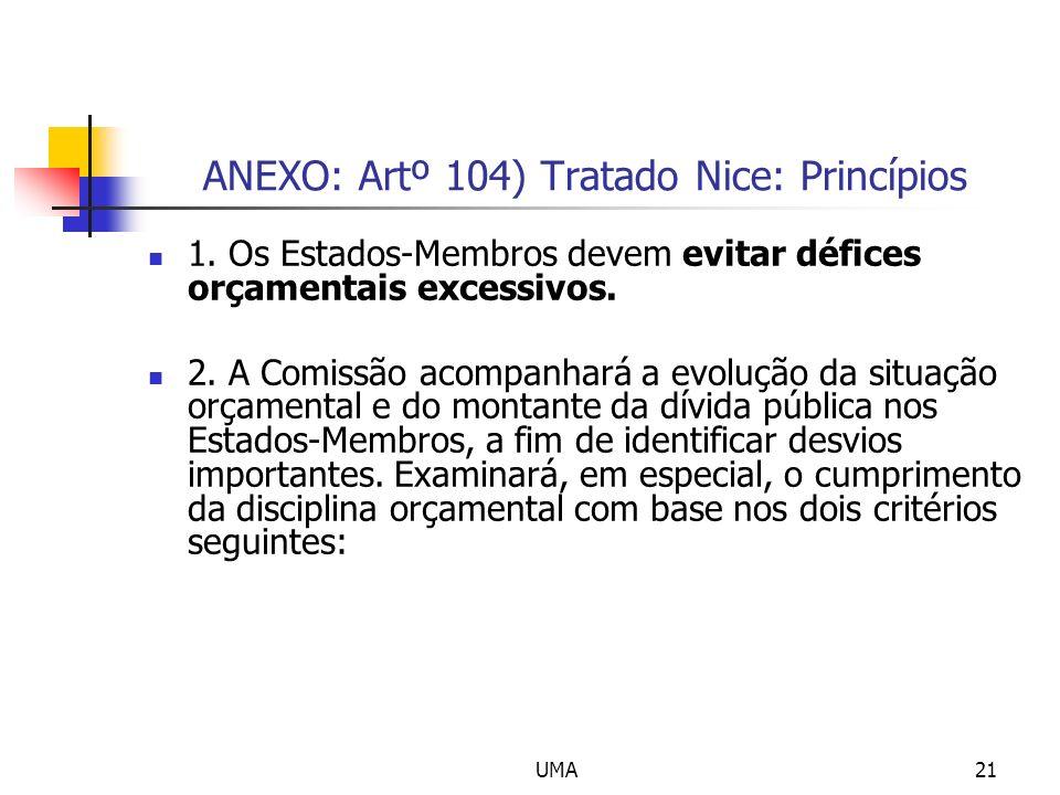 UMA21 ANEXO: Artº 104) Tratado Nice: Princípios 1.