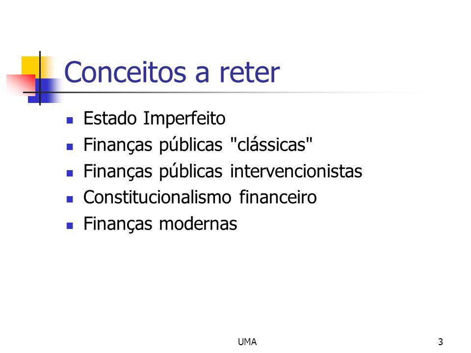 UMA3 Conceitos a reter Estado Imperfeito Finanças públicas