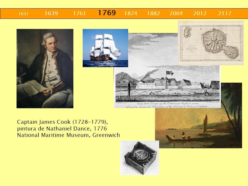 1631 1639 1761 1769 1874 1882 2004 2012 2117 Captain James Cook (1728-1779), pintura de Nathaniel Dance, 1776 National Maritime Museum, Greenwich