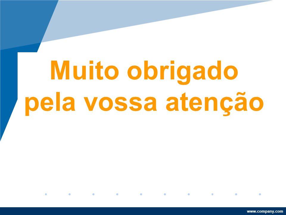 www.company.com Muito obrigado pela vossa atenção