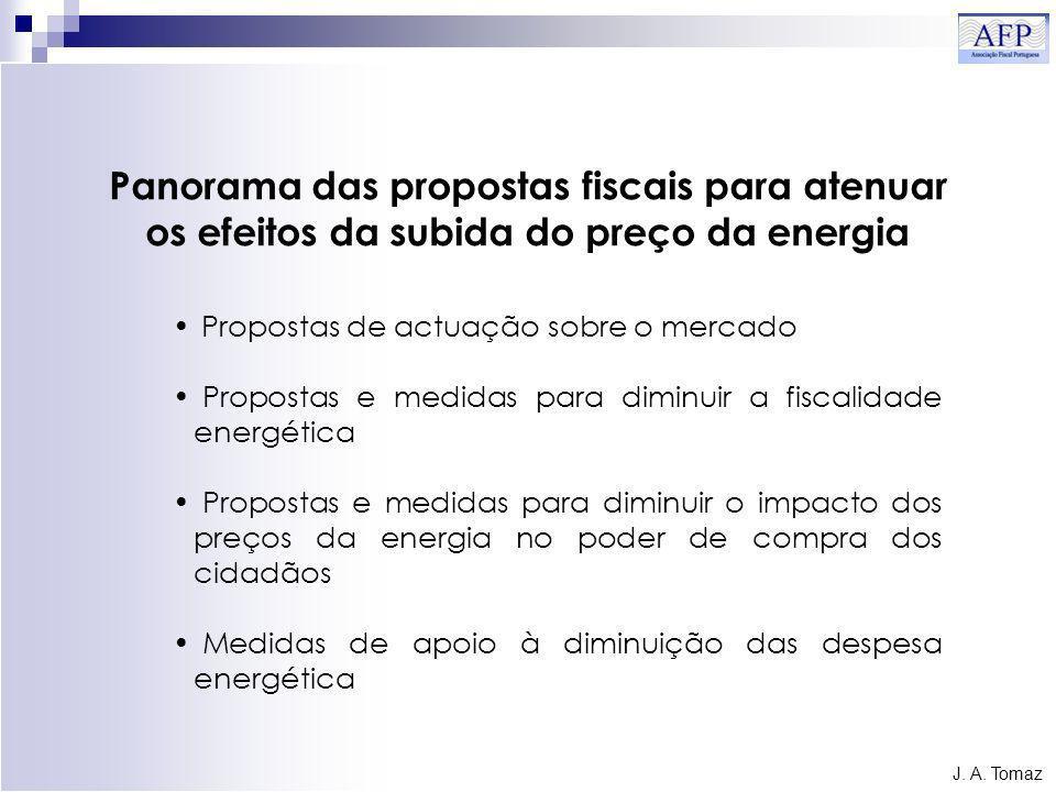 Panorama das propostas fiscais para atenuar os efeitos da subida do preço da energia J.
