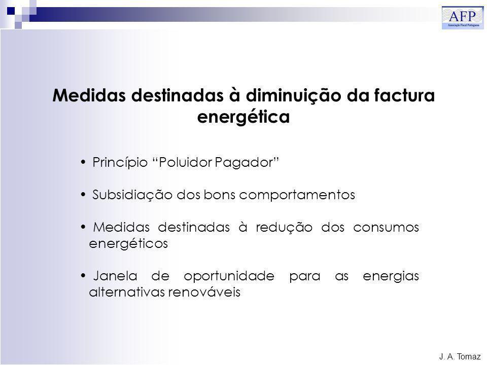 Medidas destinadas à diminuição da factura energética J.