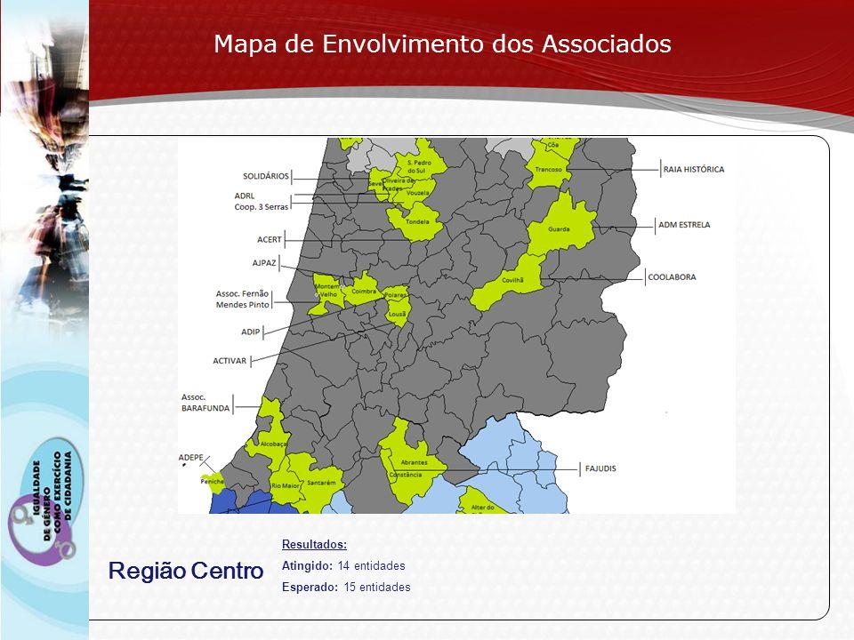Page 10 Região Centro Mapa de Envolvimento dos Associados Resultados: Atingido: 14 entidades Esperado: 15 entidades