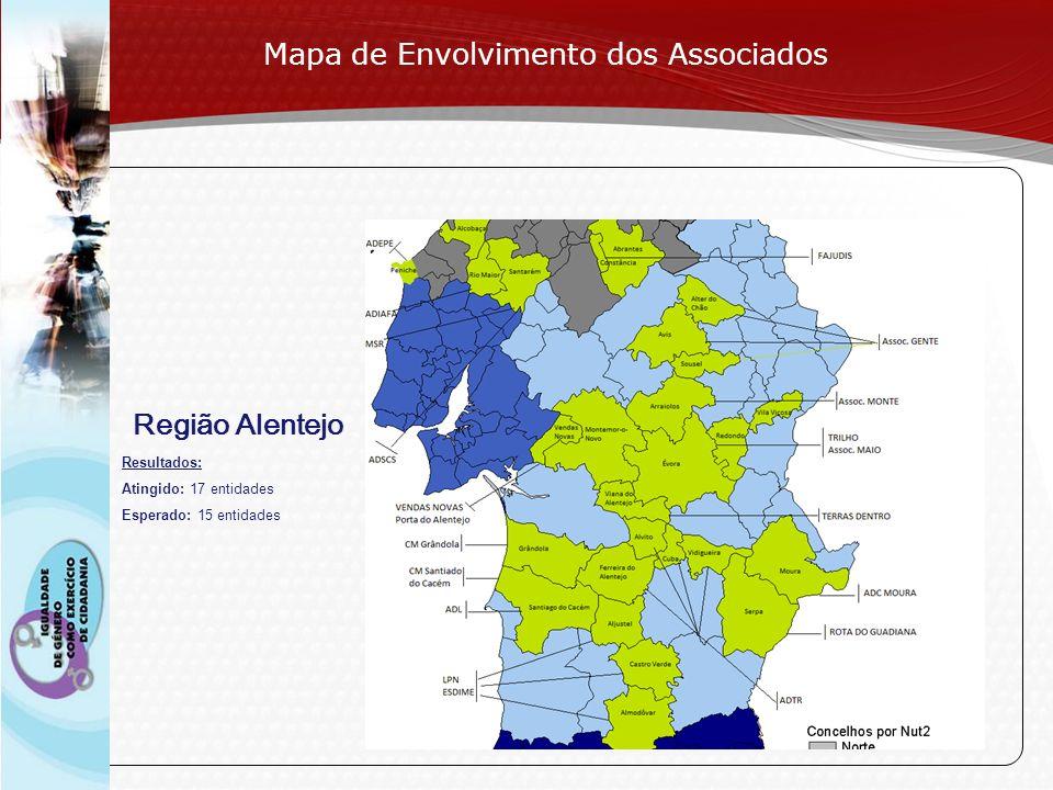 Page 11 Região Alentejo Mapa de Envolvimento dos Associados Resultados: Atingido: 17 entidades Esperado: 15 entidades