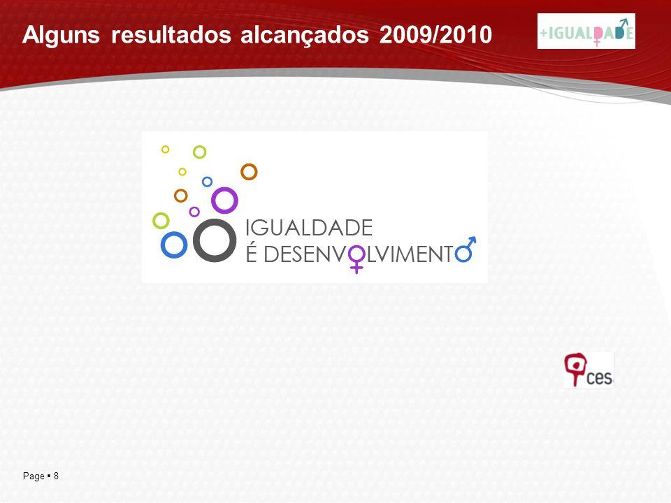 Page 8 Alguns resultados alcançados 2009/2010