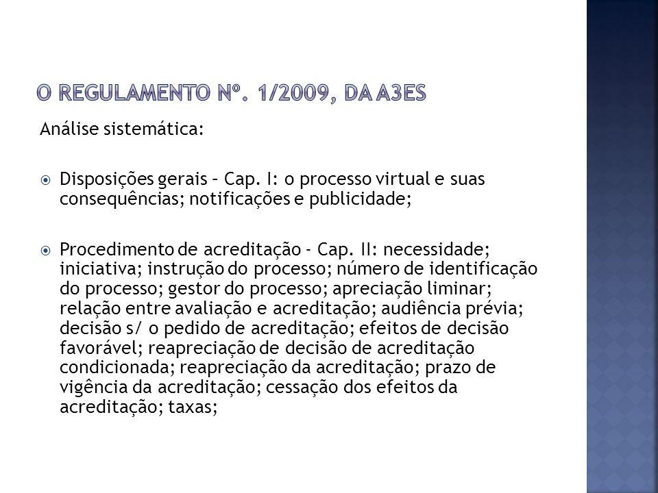 Análise sistemática: Disposições gerais – Cap.