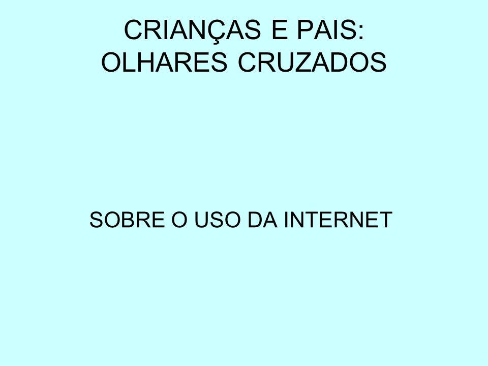 CRIANÇAS E PAIS: OLHARES CRUZADOS SOBRE O USO DA INTERNET