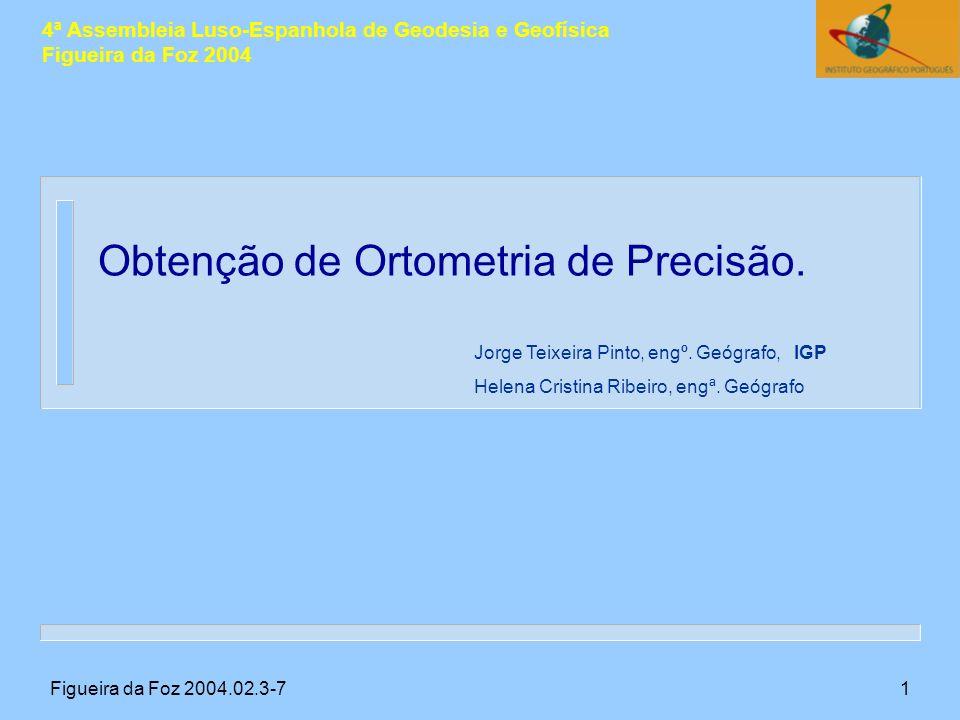 Figueira da Foz 2004.02.3-72 A determinação de altimetria usando distâncias zenitais confronta-se com o problema da correcta modelação da refracção vertical, RV.