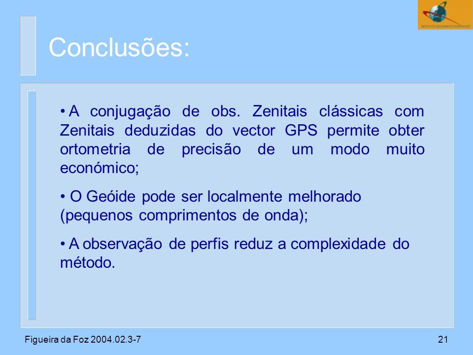 Figueira da Foz 2004.02.3-721 Conclusões: A conjugação de obs.