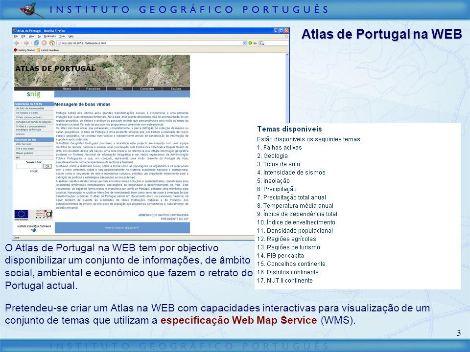 14 Visualizador do GeoPORTAL Adicionar um serviço