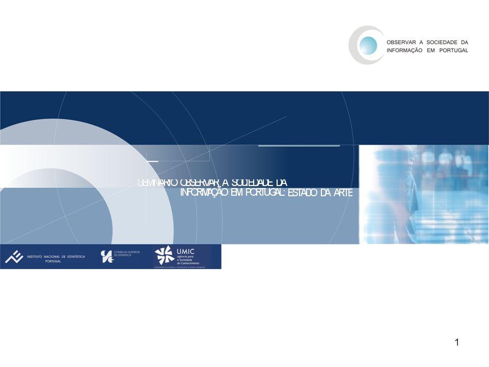 2 AS TIC NOS HOSPITAIS SOCIEDADE DA INFORMAÇÃO EM PORTUGAL 2006 A POPULAÇÃO, A SAÚDE E AS TIC