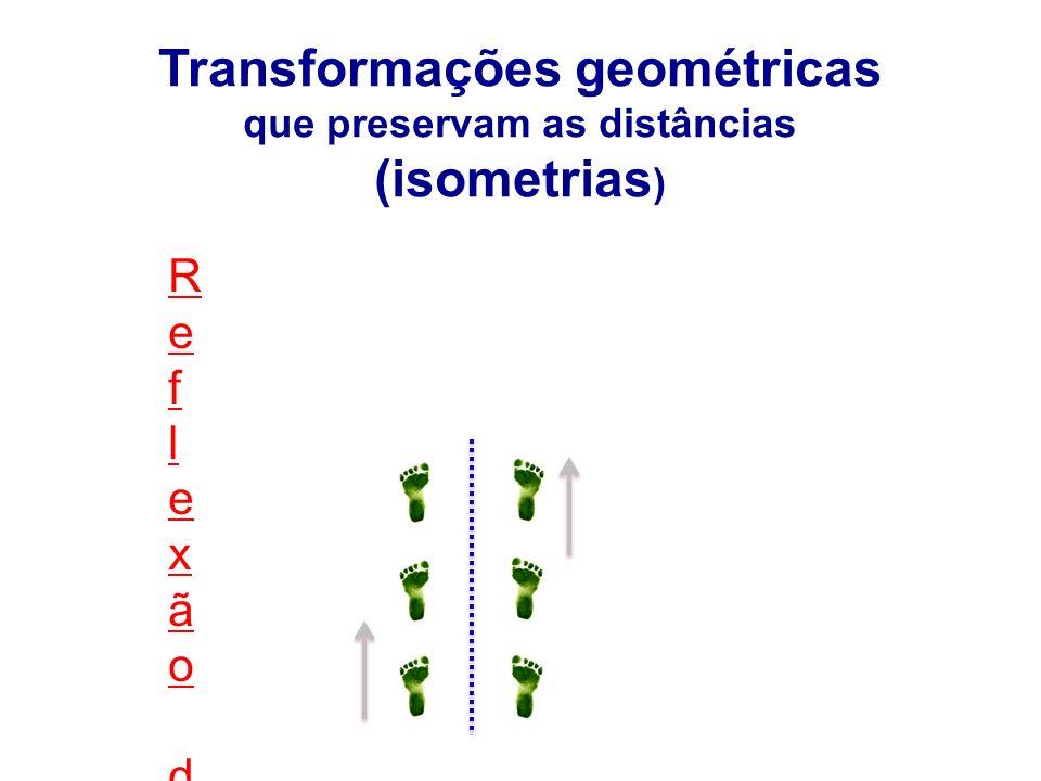 Reflexão deslizanteReflexão deslizante Transformações geométricas que preservam as distâncias (isometrias )