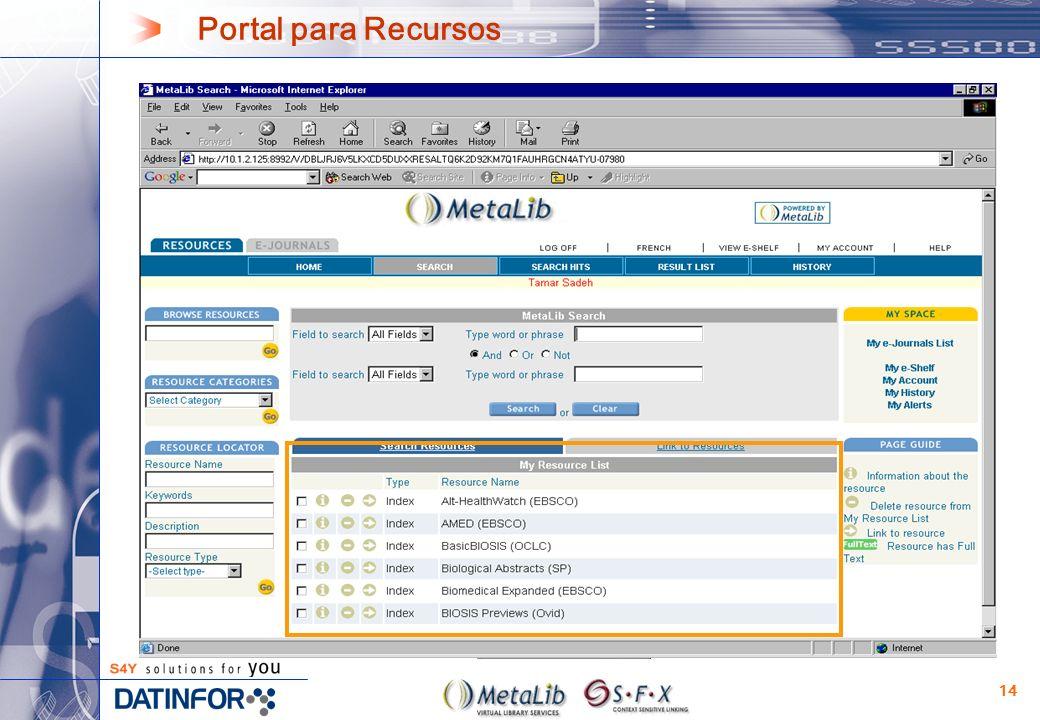 14 Portal para Recursos