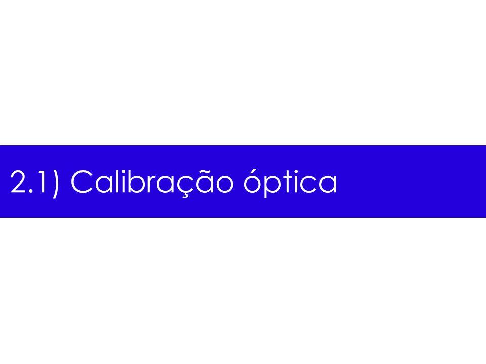2.1) Calibração óptica