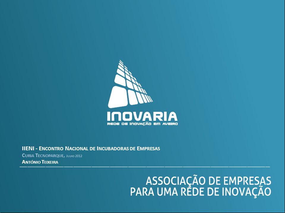IIENI - E NCONTRO N ACIONAL DE I NCUBADORAS DE E MPRESAS C URIA T ECNOPARQUE, J ULHO 2012 A NTÓNIO T EIXEIRA